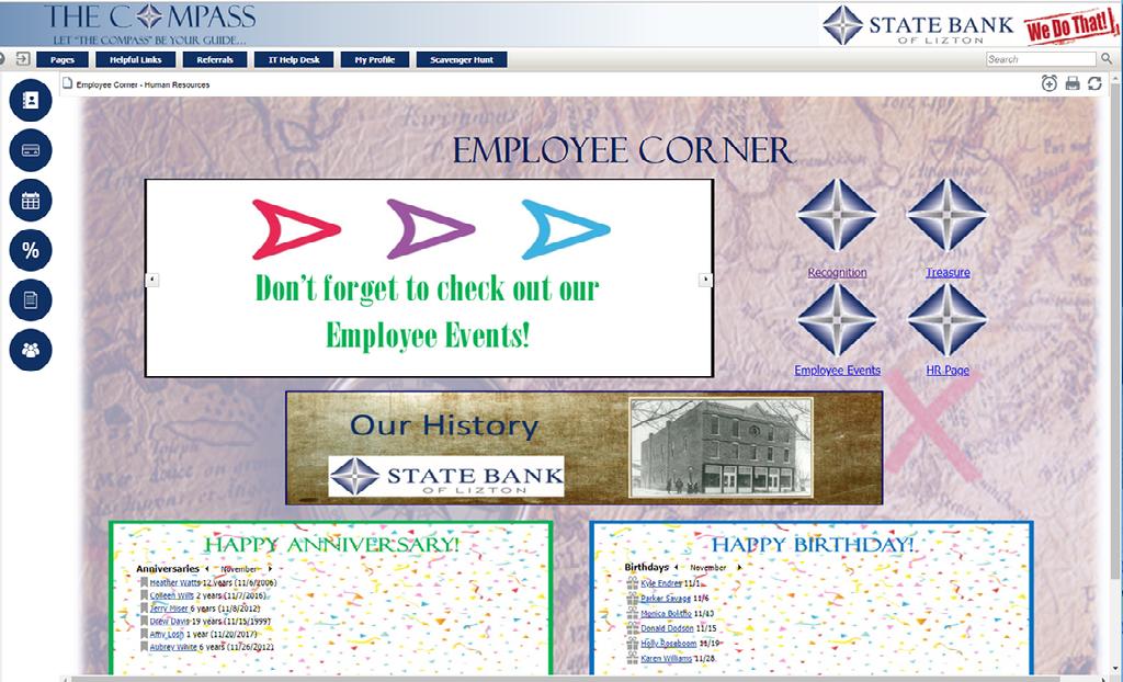 employee corner site