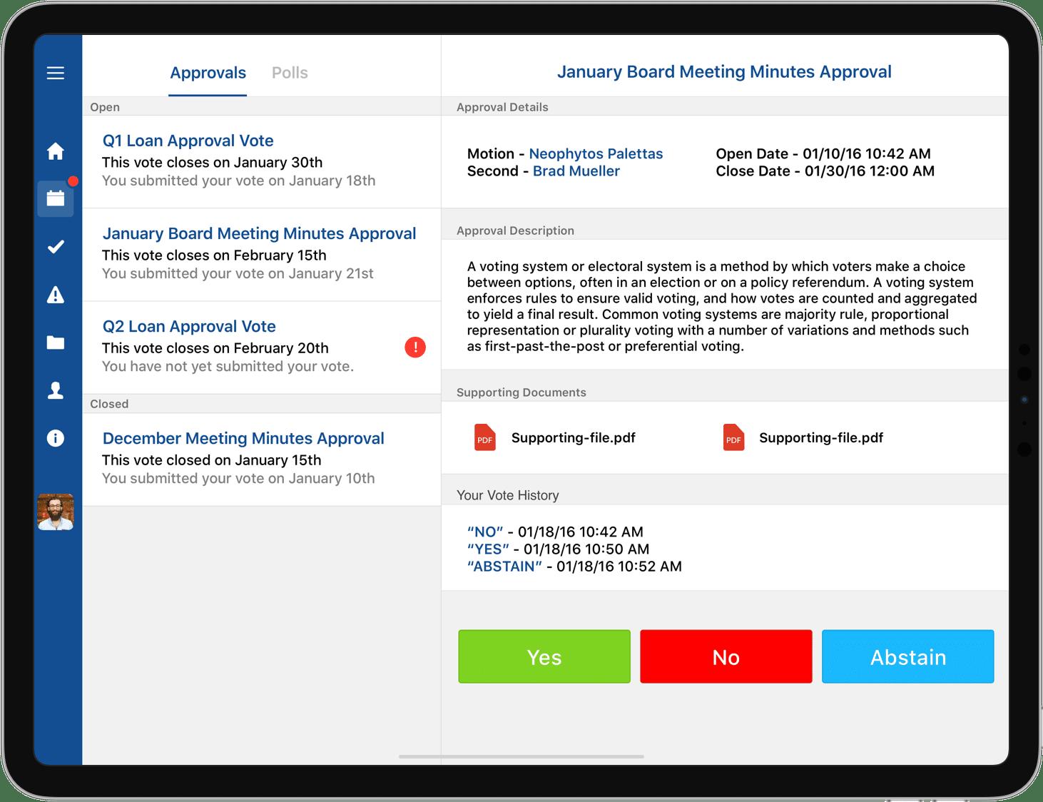 iPad Voting