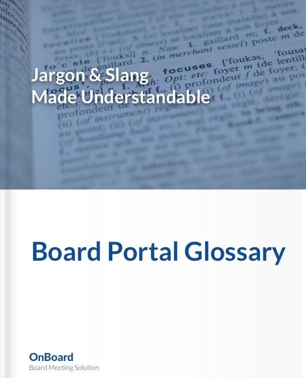 Board Portal Glossary