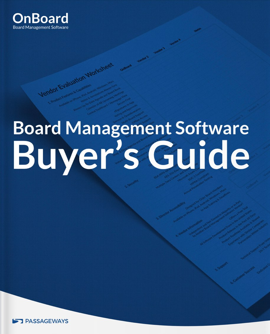 Board Management Buyers Guide Art