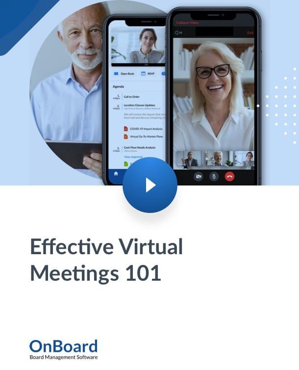 Effective Virtual Meetings 101