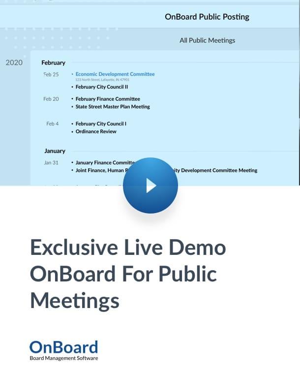 Exlusive Live Demo Public Meetings