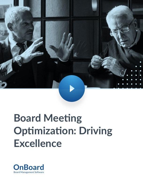 Board Meeting Optimization