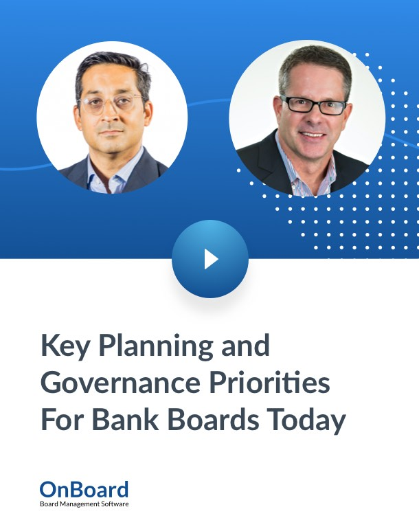 Key Planning and Governance Priorities For Bank Boards Today_Website Banner