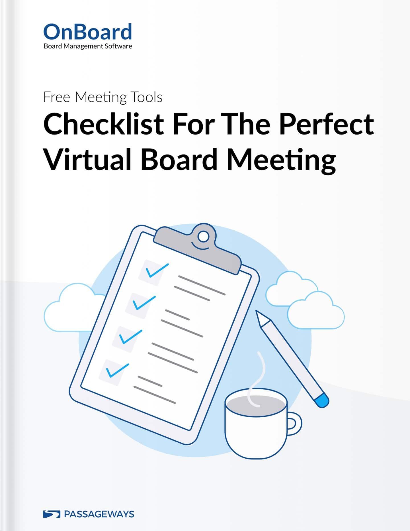 Checklist for Virtual Board Meetings