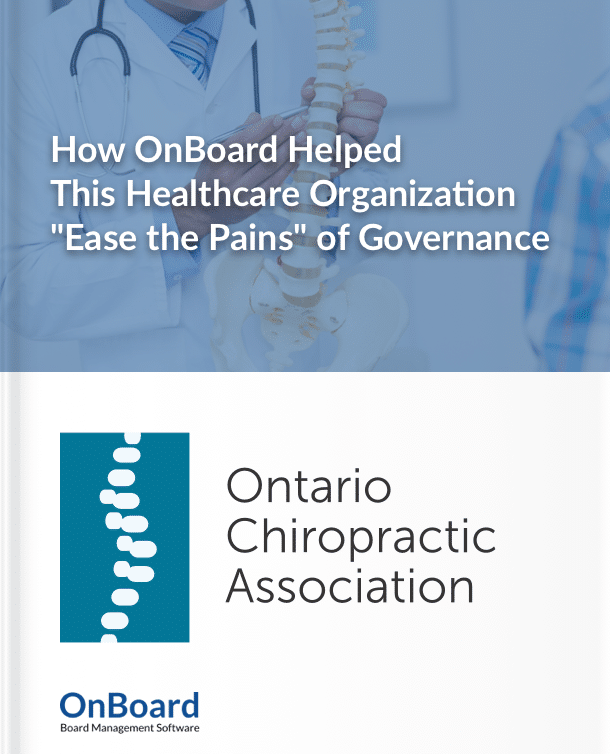 Ontario Chiropractic Association Cover Page